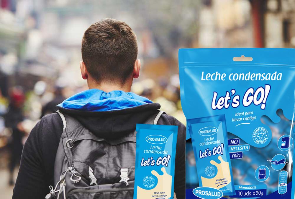bolsita leche condensada lets go monodosis para llevar