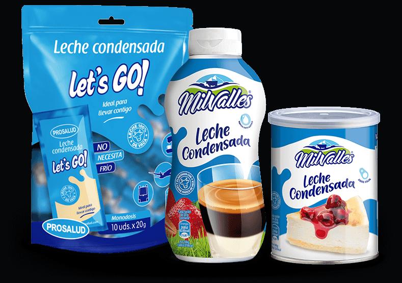 Productos Milvalles leche condensada entera