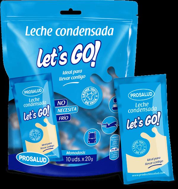 Productos Milvalles leche condensada entera sobres monodosis lets go