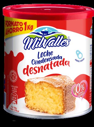 lata leche condensada desnatada Milvalles para postres