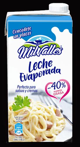 brick leche evaporada Milvalles salsas bajas en grasas