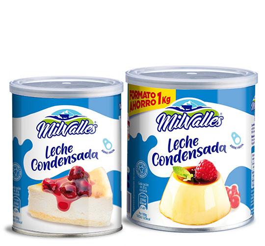 leche condensada entera latas milvalles