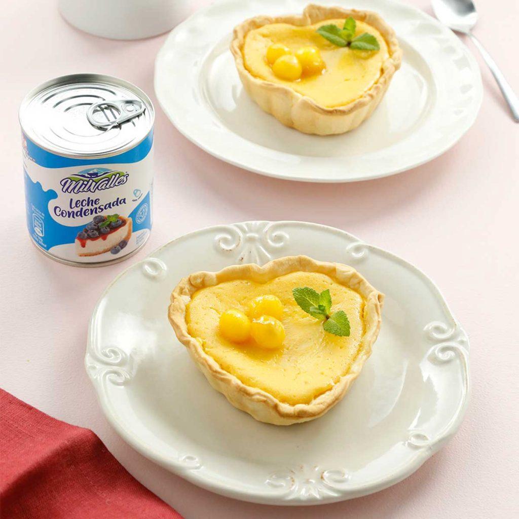 recetas faciles tartaleta con leche condensada san valentin