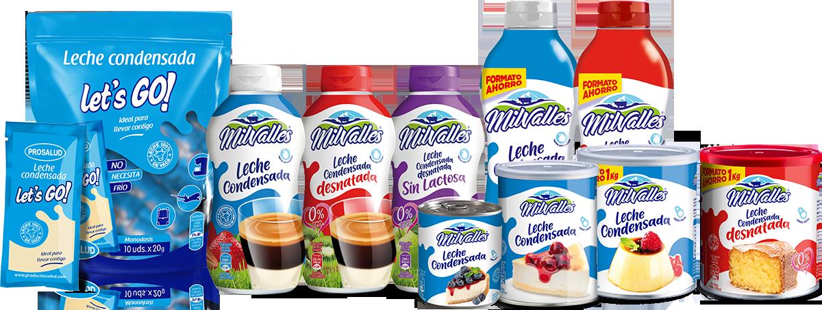 leche condensada milvalles formatos