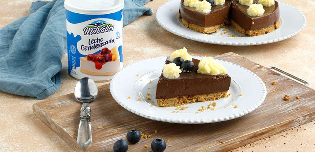 tarta de chocolate con galletas y leche condensada milvalles